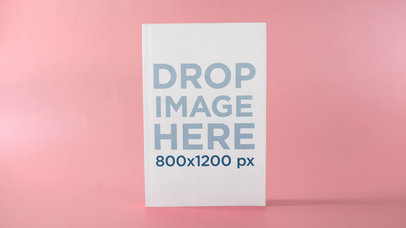 Ebook Floating With Changing Blue And Pink Background Mockup Stop Motion a13679