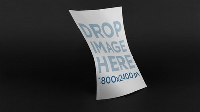 Stop Motion Of A Dancing Floating Poster With A Black Background Mockup a13636