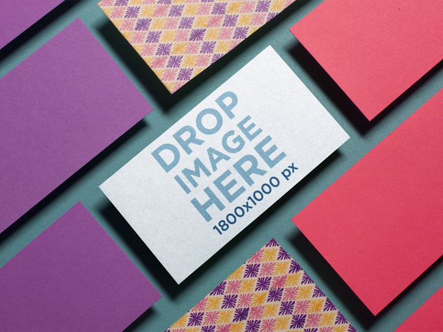 Stop Motion Mockup Of A Business Card Lying Over A Green Surface While Other Business Cards Around It Dissapear a13966