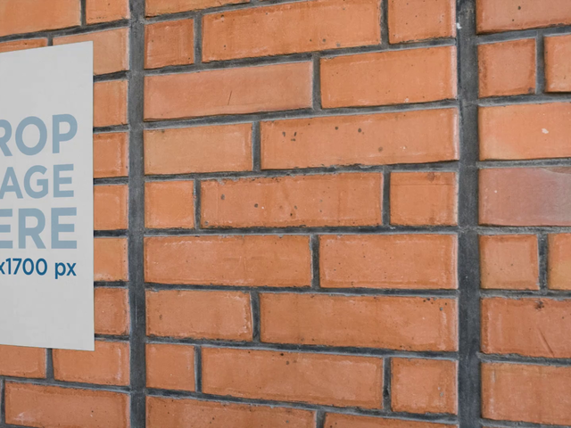Video of a Poster on a Bricks Wall Mockup a13973