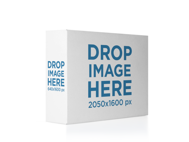 Horizontal Software Box Lying Over a Transparent Backdrop Mockup 14541