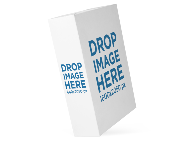 Mockup of a Software Box From the Side Floating Against a Transparent Background a14538