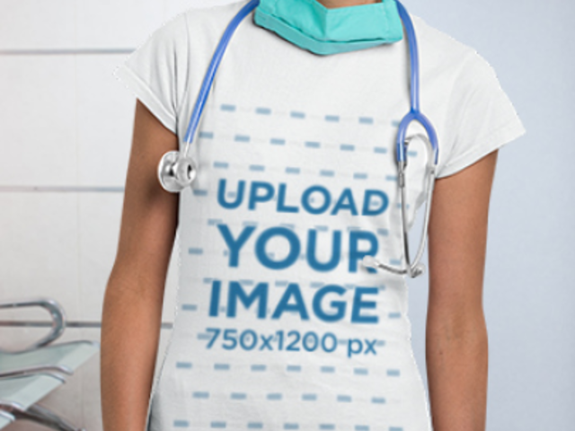 Parallax Video of a Nurse Wearing a T-Shirt in a Hospital 2500