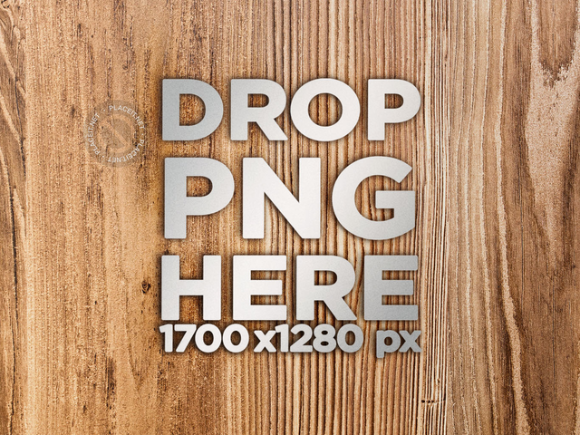 Metal 3D Logo on a Wooden Surface With Vertical Grains Mockup a14573
