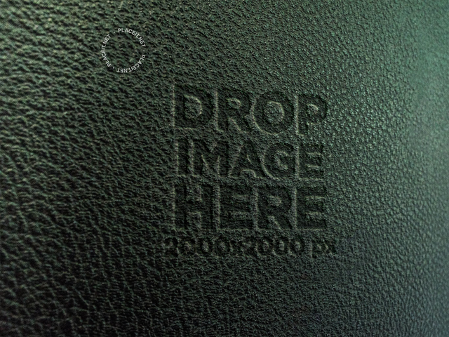 Green Leather Texture Template Logo a14814