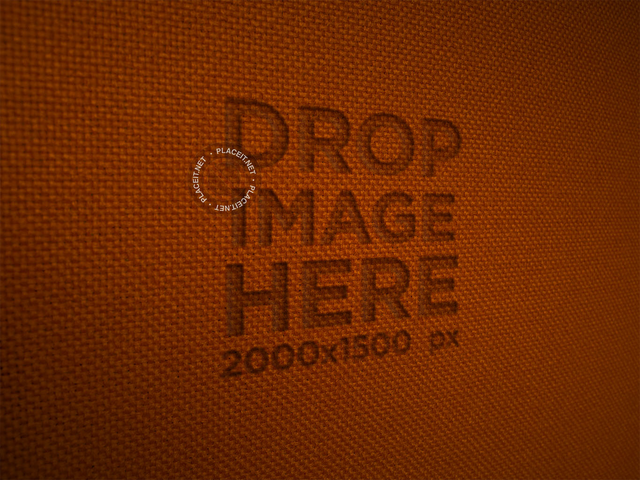 Logo on an Orange Fabric Texture Template a14820