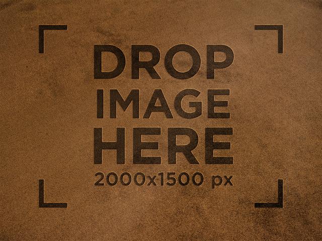 Shammy Texture Leather Logo Mockup a14915