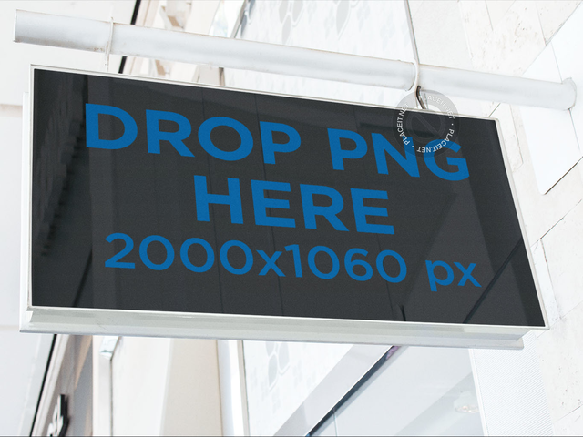 Horizontal Sign Template Outside a Store a15038
