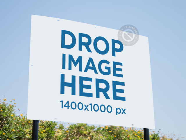 Real Estate Lawn Sign Mockup Outdoors a14981