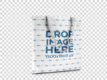 Tote Bag Template Standing on a Transparent Background a15061
