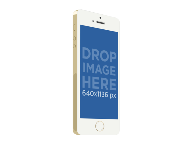 White Portrait iPhone 5s Gold Illustration