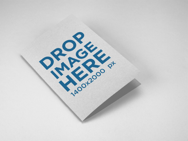 Mockup of a Bifold Brochure Lying on a Solid Color Surface a15202