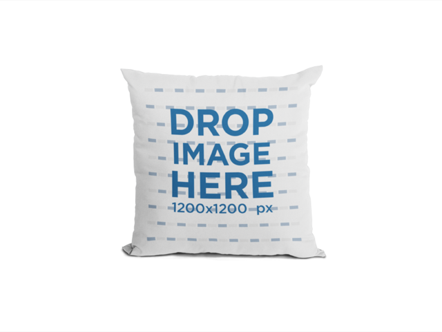 Square Pillow Mockup Standing Against a Transparent Background a14943