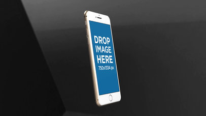 Video Mockup of a White iPhone Rotating While Inside a Room a15638