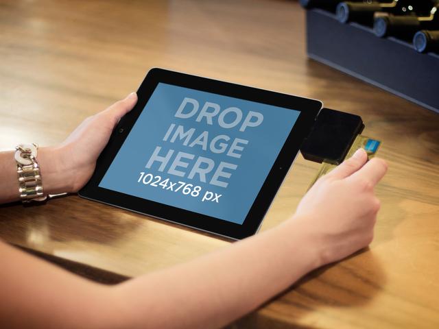 iPad Black Landscape Retail Service