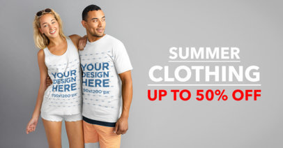 Facebook Ad Template - Young Couple on Summer Outfits a1074