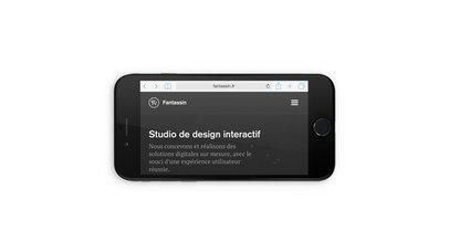 Black Landscape iPhone 6 (With Gestures)