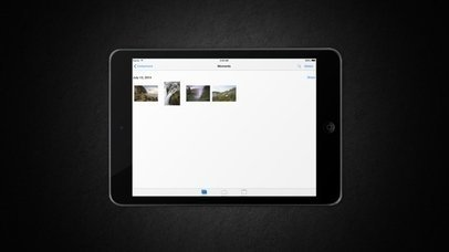 iPad Black On White Background (With Gestures)