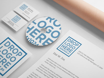 Branding Mockup Featuring a Set of Various Stationery Items a6302