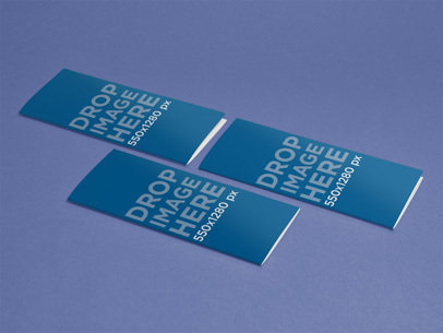 Mockup Featuring 3 Brochures in an Angled Position a6343