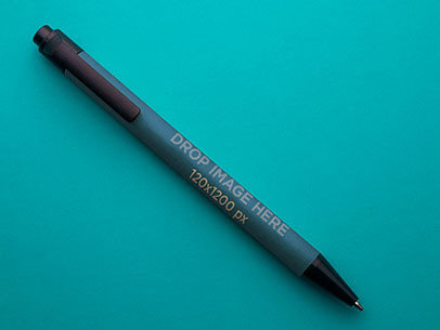 Mockup Featuring a Pen Over a Smooth Background a6542