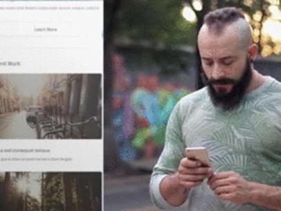 iPhone App Demo Video of a Man at an Urban Environment a8185