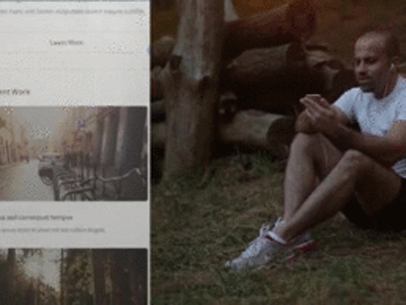 App Demo Video of a Man Sitting in a Park 8082a