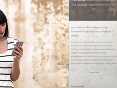 Girl Standing in Front of a Cracked Wall App Demo Video a8151