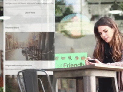 App Trailer of a Young Woman Using Her iPhone at a Cafe 7767a