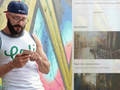 Guy Leaning Against a Wall Covered in Graffiti App Demo Video a8184
