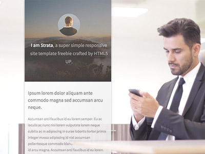 Young Man in a Suit at the Office App Demo Video 8087a