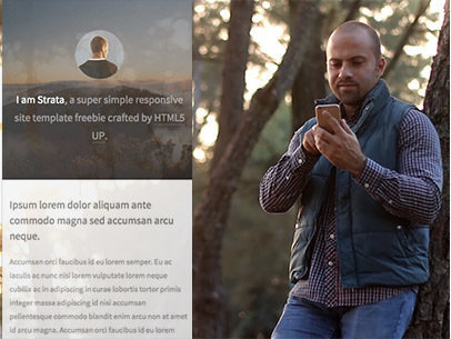 App Demo Video of a Man Using an iPhone 6 in the Forest a8078