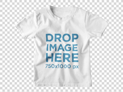 Kids Round Neck T-Shirt Clothing Mockup a9157