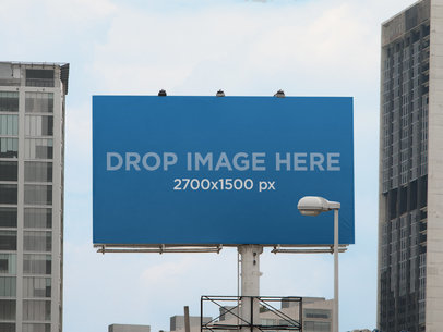 Billboard Mockup in a Cityscape a11291