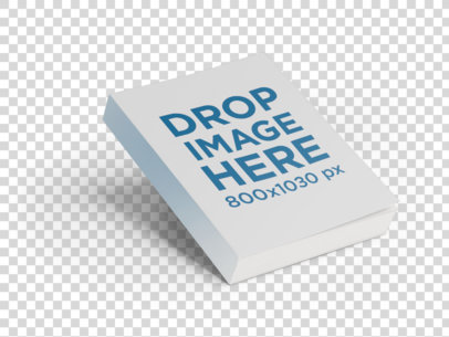 Floating Paperback Book Mockup Over a PNG Background a9883