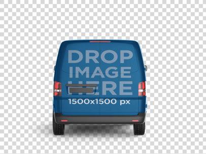 Back Side Car Wrap PNG Mockup of a Van 11653
