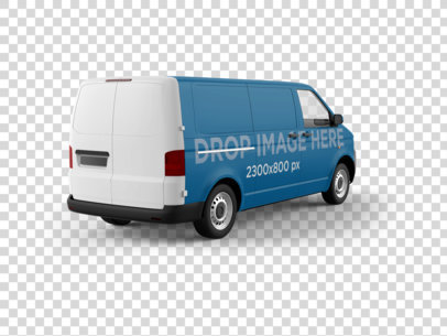 PNG Car Wrap Mockup of a Van in an Angled View 11648