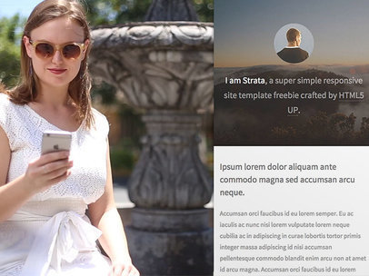 Woman Sitting by a Fountain Checking Her iPhone App Demo Video 9603