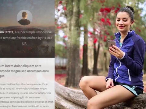 Woman Using Her iPhone After a Run App Demo Video 9855