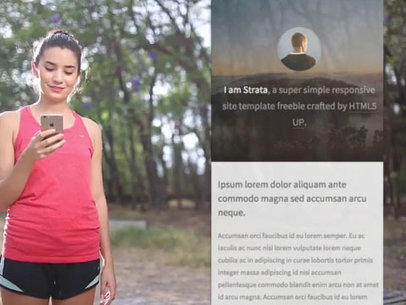 iPhone App Demo Video of a Woman Out for a Morning Jog 9856