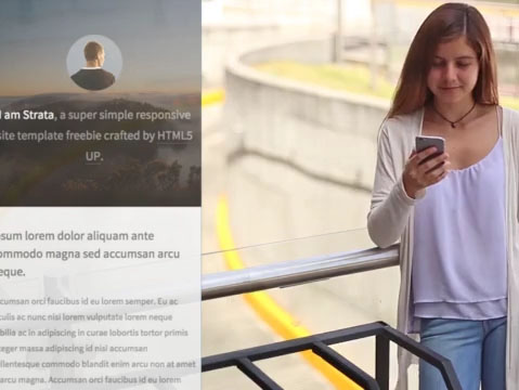 Woman Using Her iPhone at a Parking Lot App Demo Video a9590