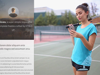 App Demo Video of an iPhone 6 Featuring a Tennis Player 9854a