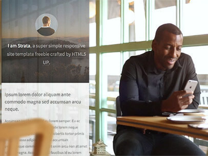 iPhone App Demo Video of a Black Man at a Restaurant a9233
