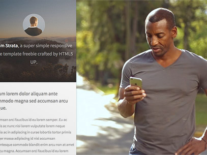 iPhone App Demo Video of a Black Man Walking by a Park a9234