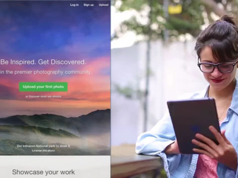 Young Woman with Glasses Using Her iPad at a Tea Shop App Demo Video a8720