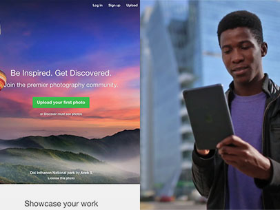 App Demo Video of an iPad Used by a Black Man Near a Cityscape a8880