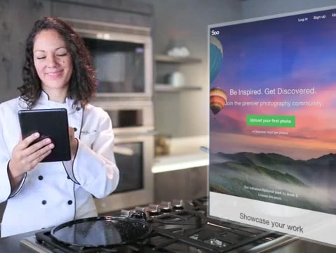 Chef Using Her iPad in Her Kitchen App Demo Video a8779