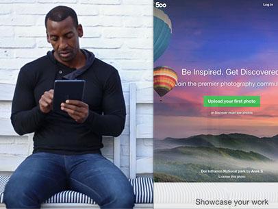 Black Man Waiting Outside a Seafood Restaurant iPad App Demo Video a9236