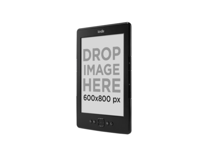 Angled Amazon Kindle Mockup Over a PNG Background a11812