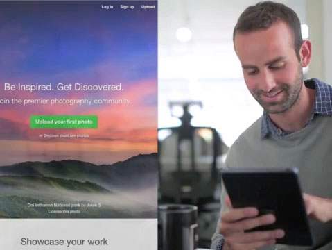 iPad App Demo Video of a Man at a Creative Office a8775